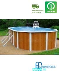 Бассейн Atlantic pool овальный Esprit-Big размер 7,3х3,7х1,32 м